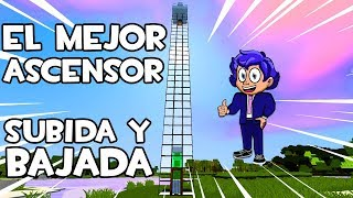 EL MEJOR ASCENSOR (ELEVADOR) DE MINECRAFT⏫🚻⏬CON SUBIDA Y BAJADA ¡FÁCIL DE HACER!