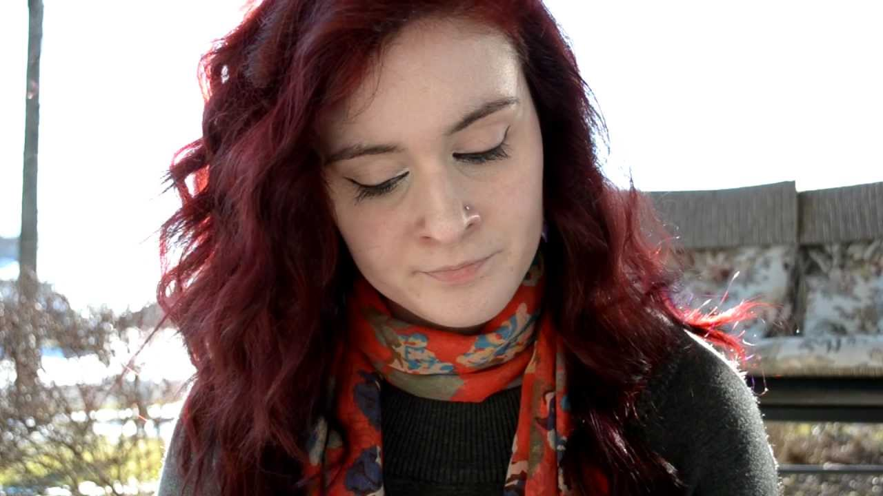How to achieve red hair from dark brown WITHOUT BLEACHING - YouTube