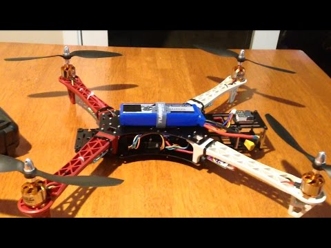 Reptile 500 550 Quadcopter - Build overview and first flight. Ready for FPV.