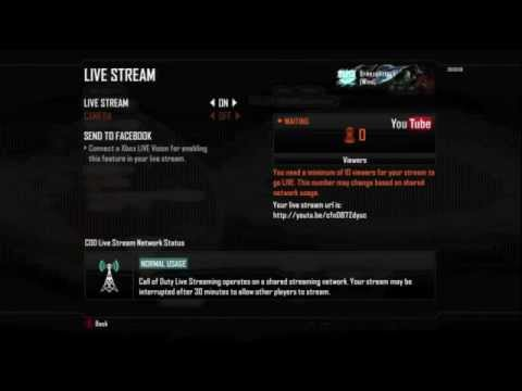 How to live stream in Black Ops 2 on Youtube! League Play tutorial / walkthrough in BO2