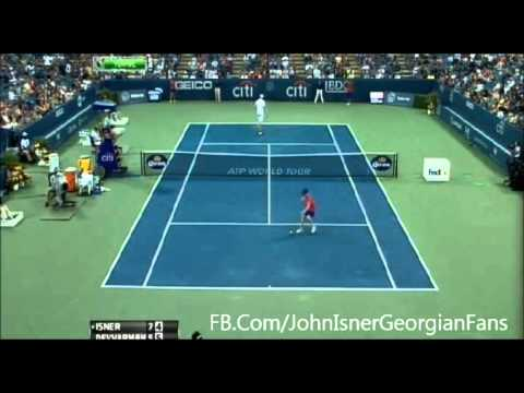John Isner Brilliant Point Won vs Somdev Devvarman Citi Open 2013