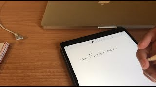 "Writing with Apple Pencil on iPad Pro (10.5"") vs  Real Pen"
