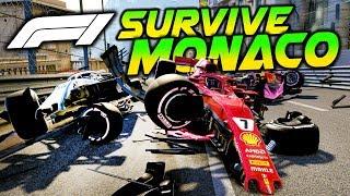 SURVIVE MONACO - Hardcore Extreme Damage Mod F1 Game Keyboard Challenge