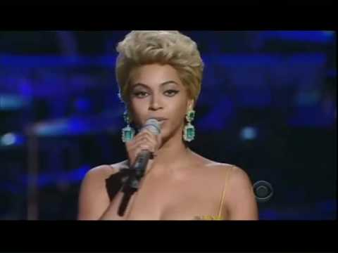 Thumbnail of video Beyonce singing the Etta James Classic 'At Last'