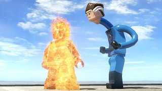 HUMAN TORCH VS MISTER FANTASTIC (Battle) - LEGO Marvel Super heroes
