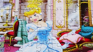 DISNEY PRINCESS Puzzle Game Rompecabezas De Cinderella Kids Toys Puzzles Jigsaw Learning Games