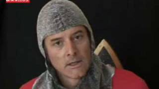 Simon Acland in Crusader costume
