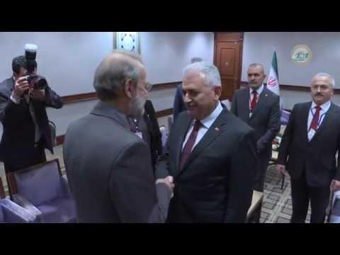 Başbakan Yıldırım, İran Meclis Başkanı İle Bir Araya Geldi