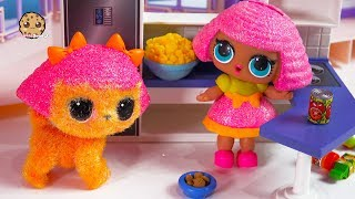 Monkey Around ! Fuzzy LOL Surprise Pet + Doll Play Video - Cookie Swirl C