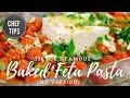 Baked Feta Pasta Video  - TikTok Feta Pasta - Uunifetapasta Recipe