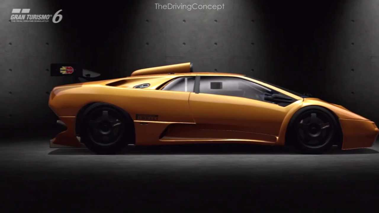 Gt6 Lamborghini Diablo Gt2 At Silverstone Youtube