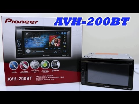 Pioneer AVH-200BT In-dash DVD Receiver - First Look!