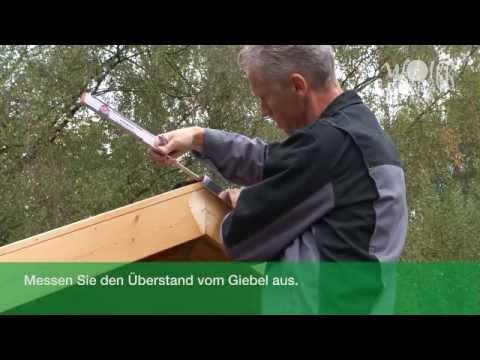 Wolff Finnhaus -  Montage Metall-Giebelabschluss