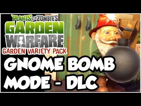 Plants vs. Zombies Garden Warfare - GNOME BOMB MODE!! NEW DLC (1080p HD)
