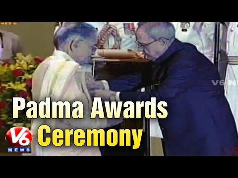 President confers Padma Awards at Rashtrapati Bhavan - New Delhi (30-03-2015)
