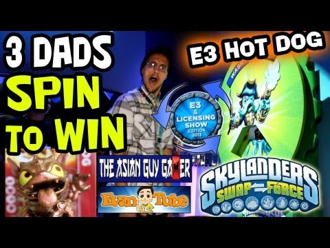 E3 Hot Dog: 3 Dads Spin to Win @ Skylanders SwapForce booth (Asian Guy Gamer / EvanTubeHD)