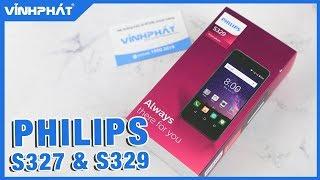 Trên tay bộ đôi smartphone Philips S327 và S329