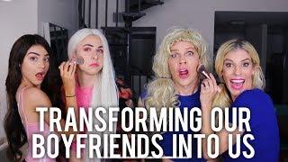 TRANSFORMING OUR BOYFRIENDS INTO US || Kristen Hancher