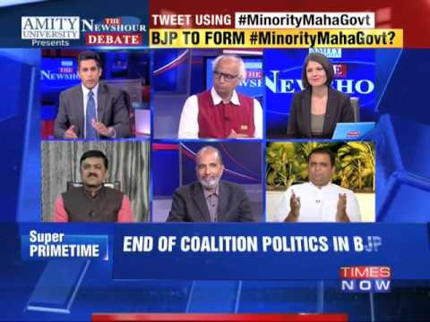 The Newshour Debate: Confident BJP going alone? - Full Debate (21st Oct 2014)