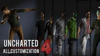 Uncharted 4  -  All Outfits/Skins/Taunts (All Customizations) Showcase