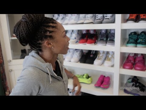"A ""Sneak Peek"" Inside Allyson Felix s Sneaker Closets"