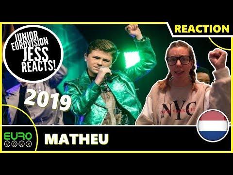 THE NETHERLANDS JUNIOR EUROVISION 2019 REACTION: Matheu - Dans Met Jou | JESS REACTS!