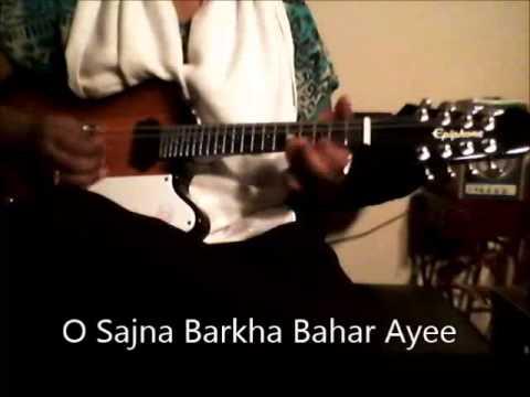 O Sajna Barkha Bahar Ayee-Lata Mungeshkar-Mandolin Instrumental...