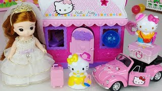 Hello Kitty house and baby doll Surprise Egg Car toys Play 헬로키티 서프라이즈 에그 하우스 아기인형 자동차 장난감놀이 - 토이몽