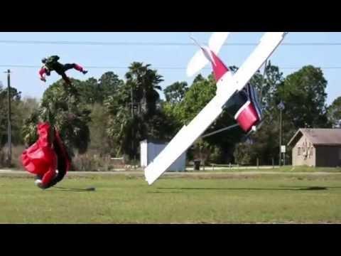 Plane vs Skydiver | Aircraft Accident | Horrid - Airplane Crash