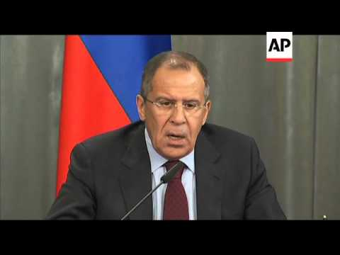Russian FM angrily dismisses calls for arms embargo on Syria