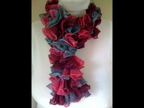 CROCHET FRILLY SCARF TUTORIAL – Only New Crochet Patterns