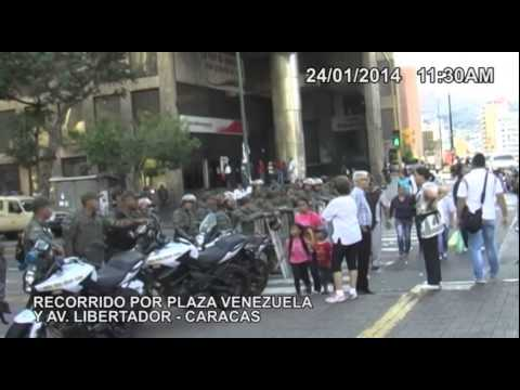 Guardia Nacional Bolivariana no permitió concentraciones de la oposición en Plaza Venezuela