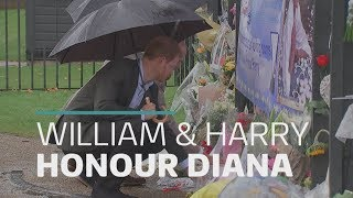 William and Harry honour their late mother Diana
