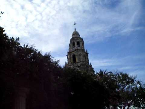 California Tower Carillon Chimes in Balboa Park, San Diego, California