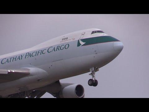 Cathay Pacific Cargo Boeing 747-467F/ER/SCD B-LID Landing at Narita