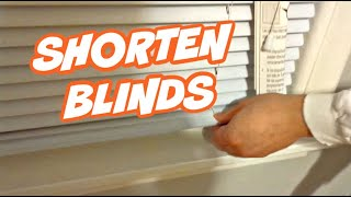 How to Correctly Shorten Window Blinds [HD]