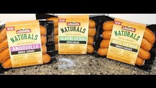 Johnsonville Naturals: Andouille, Jalapeno Cheddar & White Cheddar Smoked Sausage Review