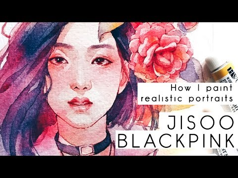 BLACKPINK Jisoo -Watercolor fan art speedpaint-