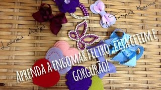 Aprenda a engomar ou impermeabilizar feltro, fita de gorgurão ou cetim by Tatiana Karina