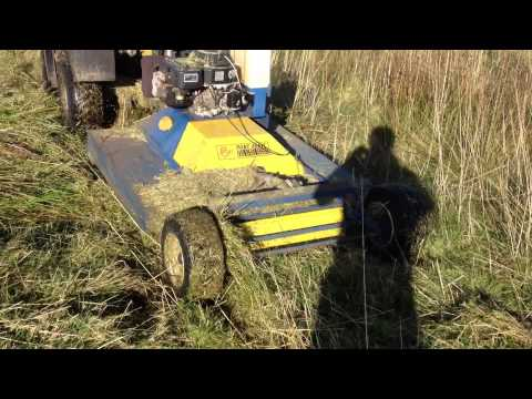 Port Agric self powered petrol trailed topper grass mower. For sale on eBay