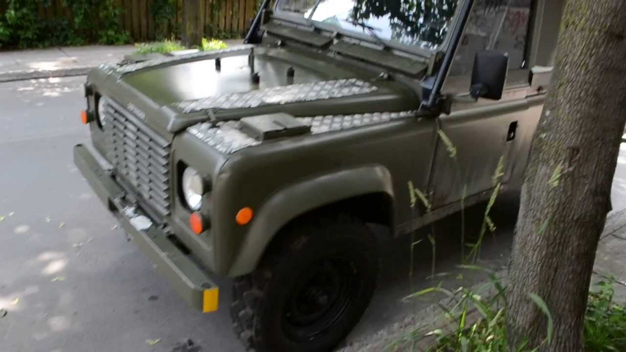 Military Vehicles For Sale Canada >> 1990 LAND ROVER DEFENDER MILITARY RADIO CAR - YouTube