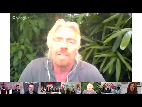Elon Musk and Sir Richard Branson Hangout on Air