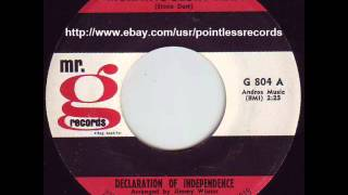 DECLARATION OF INDEPENDENCE - Morning Glory Man 60's Garage Psych Pop