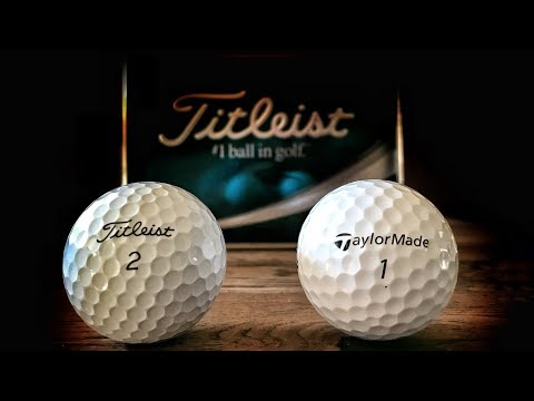 Titleist AVX vs Taylormade TP5 - LOW SPIN GOLF BALL FACE-OFF!