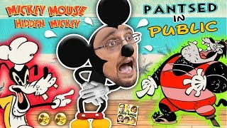 HIDDEN MICKEY MOUSE GAME!  FGTEEV Pantsed @ Beach by DISNEY Cartoon Characters! Donald Duck a Bully