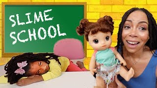 New Student at Slime School !!! New Toy School