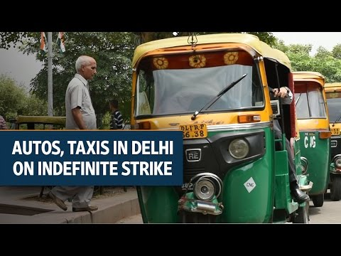 Delhi: Autos, taxis on indefinite strike against app-based cab services | Video