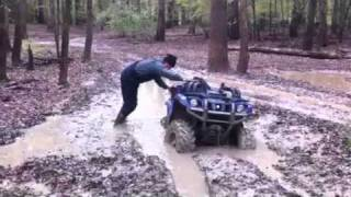 Yamaha pulling itself out of the mud hole