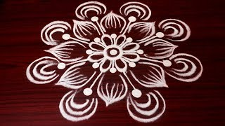 Simple Freehand Rangoli Designs For Competition