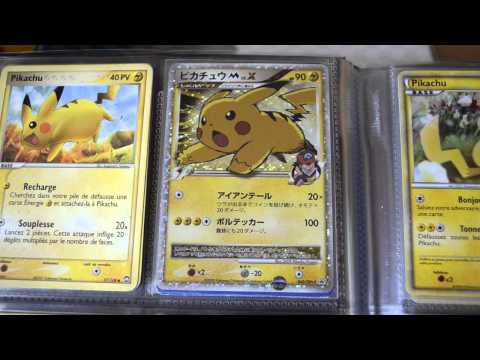 Ma collection de cartes Pikachu ! + DRACAUFEU SHINY